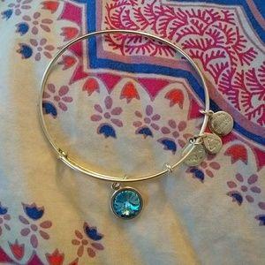 Alex and Ani turquoise charm bracelet